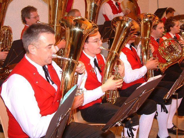 Die Langenegger Musikanten freuen sich auf viele Besucher beim Cäcilienkonzert.