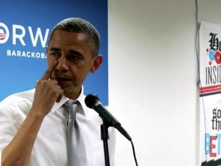 In seiner bisher fast vierjährigen ersten Amtszeit hatte Obama noch keine öffentlichen Tränen vergossen - bis zu dieser emotionalen Rede.