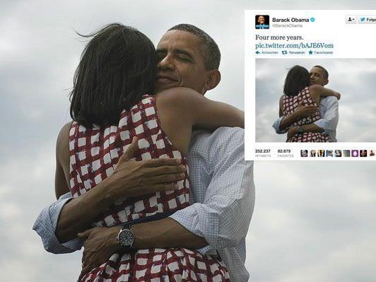 """""""Vier weitere Jahre"""" ist der am häufigsten weitergeleitete Tweet."""