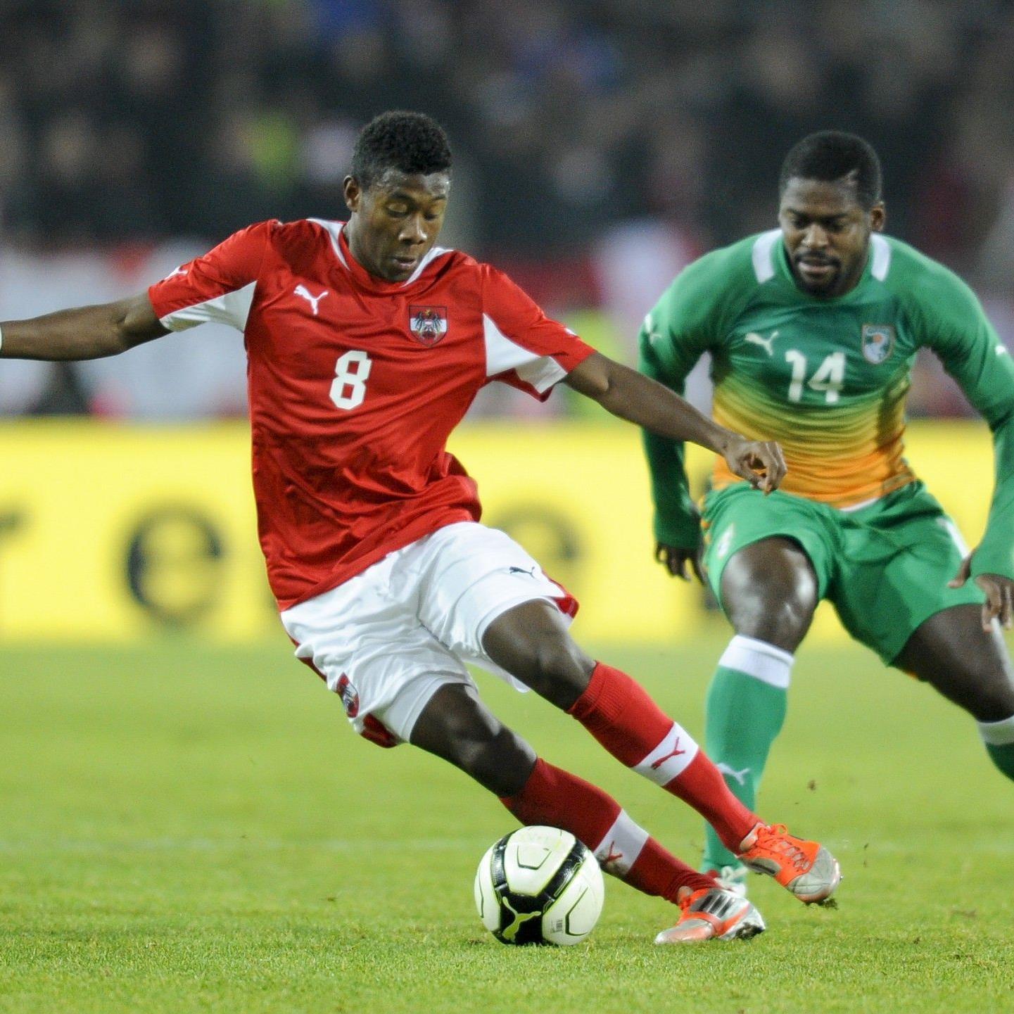 Auch David Alaba gelang es heute nicht, das Ruder gegen die Elfenbeinküste herumzureissen.