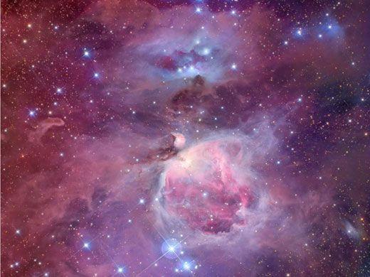 Der Große Orionnebel, auch Messier 42 genannt.
