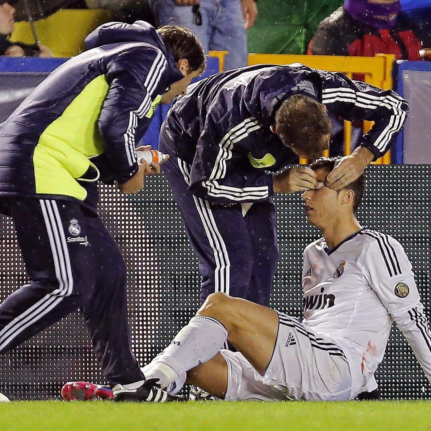 Ronaldo klagte nach Ellbogencheck über Sehstörungen.