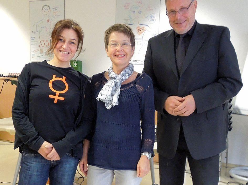 Amanda Ruf, Geschäftsführerin Amazone, Iris Tömel, BIZ-Beraterin, Anton Strini, Landesgeschäftsführer AMS Vorarlberg