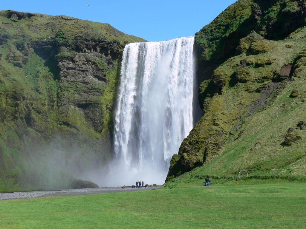 Die Seljalandsfoss in Island.