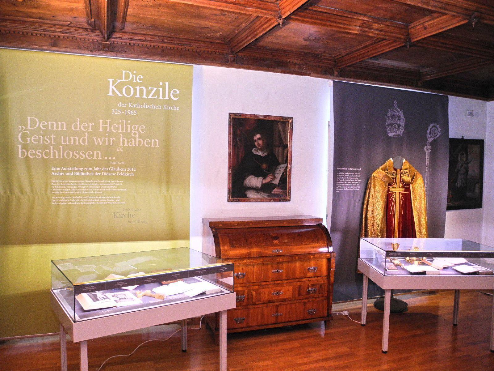Die Konzile 325 - 1965 heißt die Ausstellung in der Diözesanbibliothek
