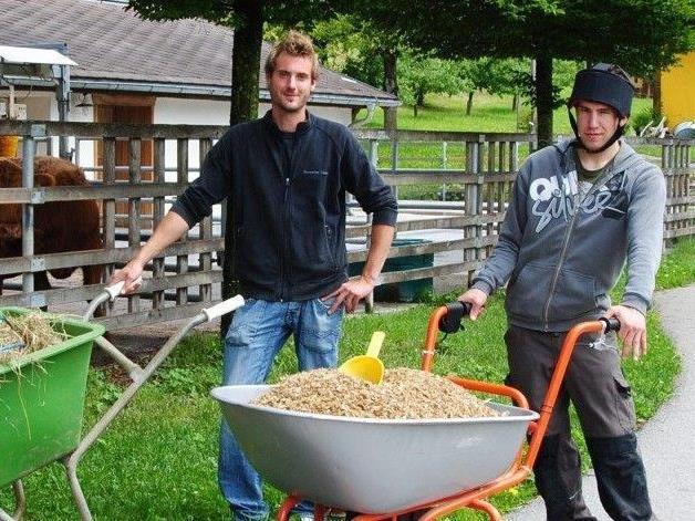 Fabian Salzgeber, hier links im Bild, mit Florian.