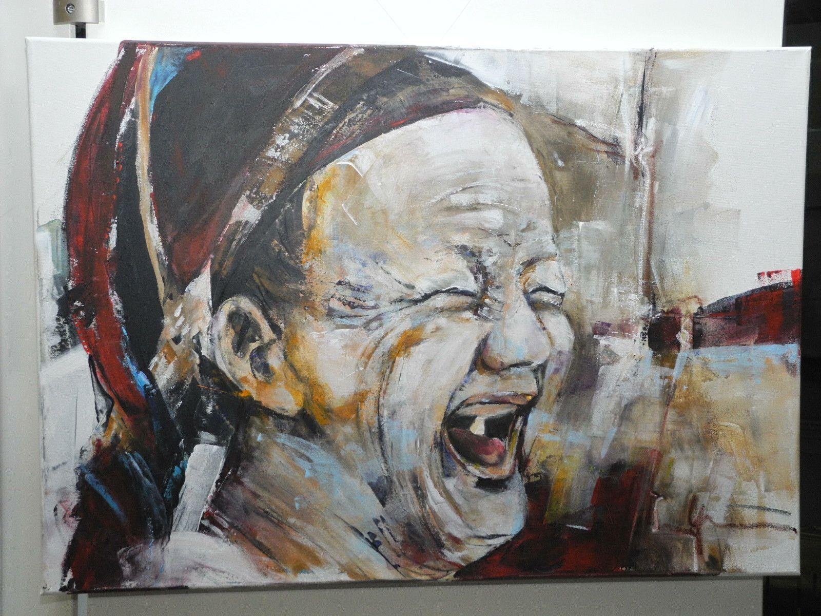 Eines der hervorragenden Bilder von Maria Gabriel in der Ausstellung Kunst im Krankenhaus im LKH Feldkirch