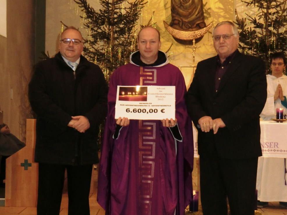 Mitorganisator Bertram Bolter, Guardian Pater Makary, Klostervater Heinz Seeburger