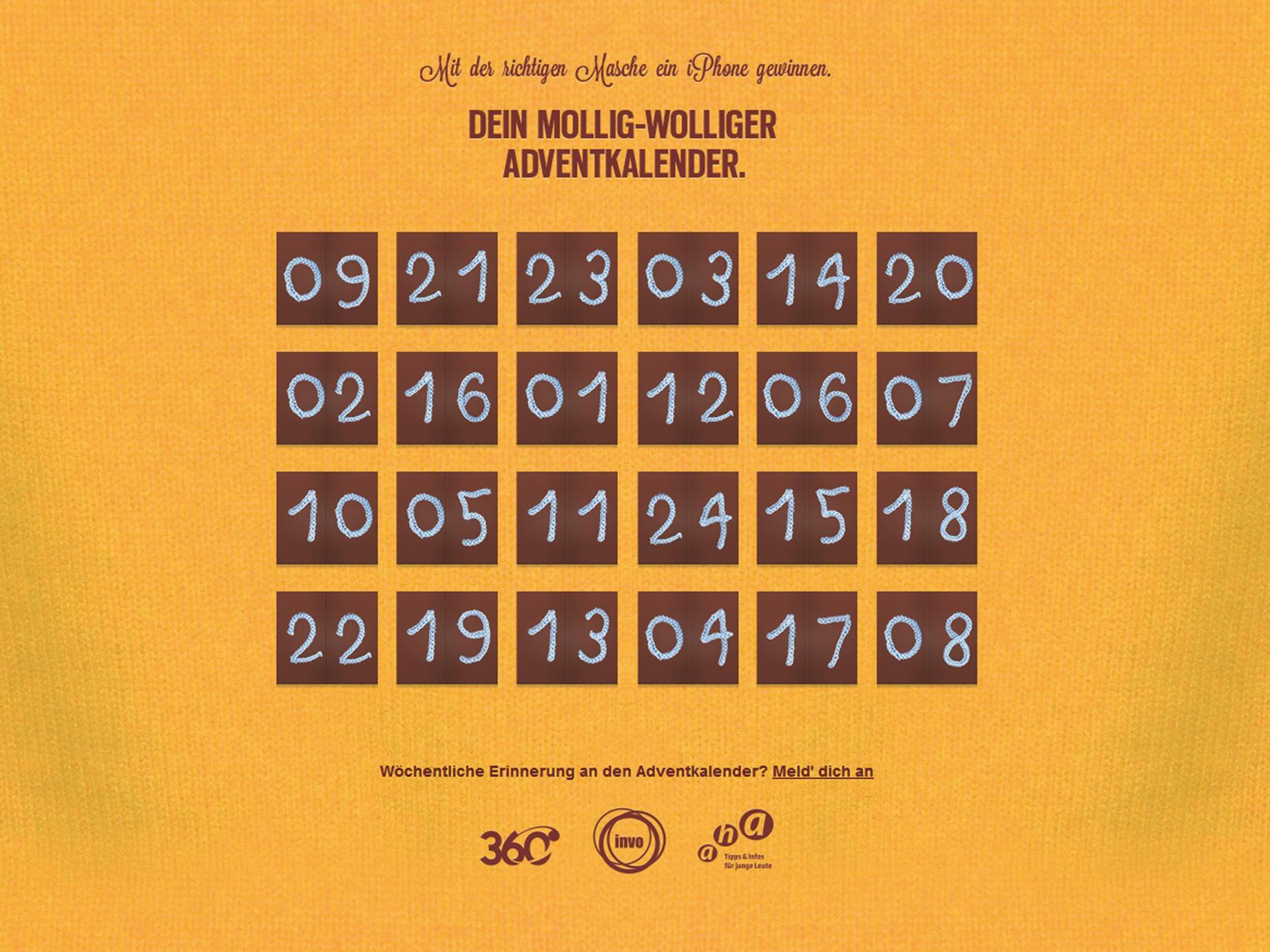 Jeden Tag wartet eine kleine Überraschung im Online-Adventkalender unter www.360card.at/adventkalender.
