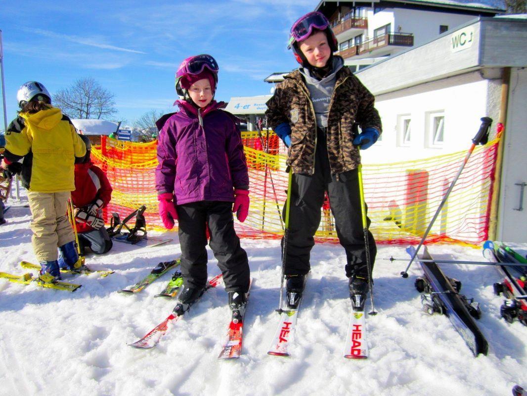 Paloma und Massimo hatten sehr viel Spaß beim Skifahren