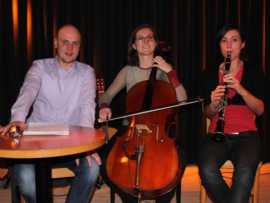 Die KünstlerInnen Georg Sutterlüty, Isabella Fink und Heidrun Wirth.