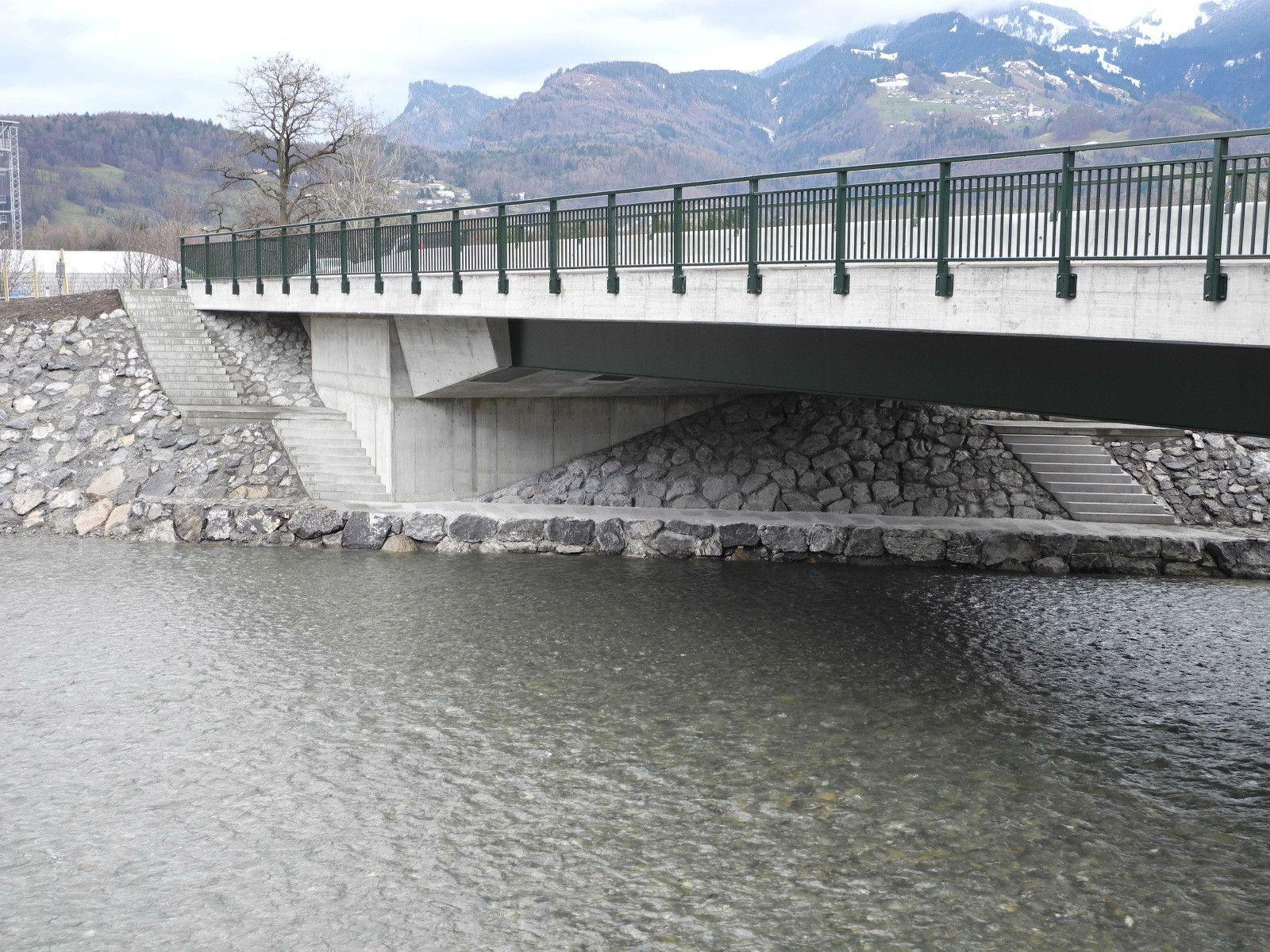 Ein wahres Schmuckstückt ist die neue Frutzbrücke zwischen Rankweil und Röthis