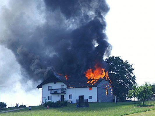 In Klosterneuburg brannte ein Einfamilienhaus