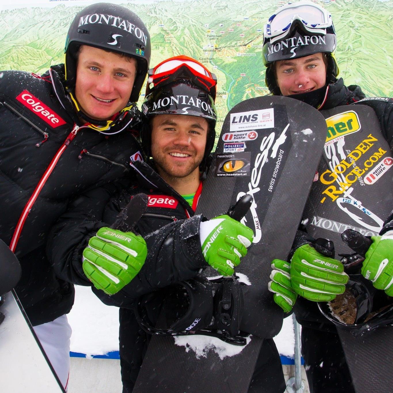 Startklar für wilden Ritt: Michael Hämmerle, Markus Schairer und Alessandro Hämmerle.