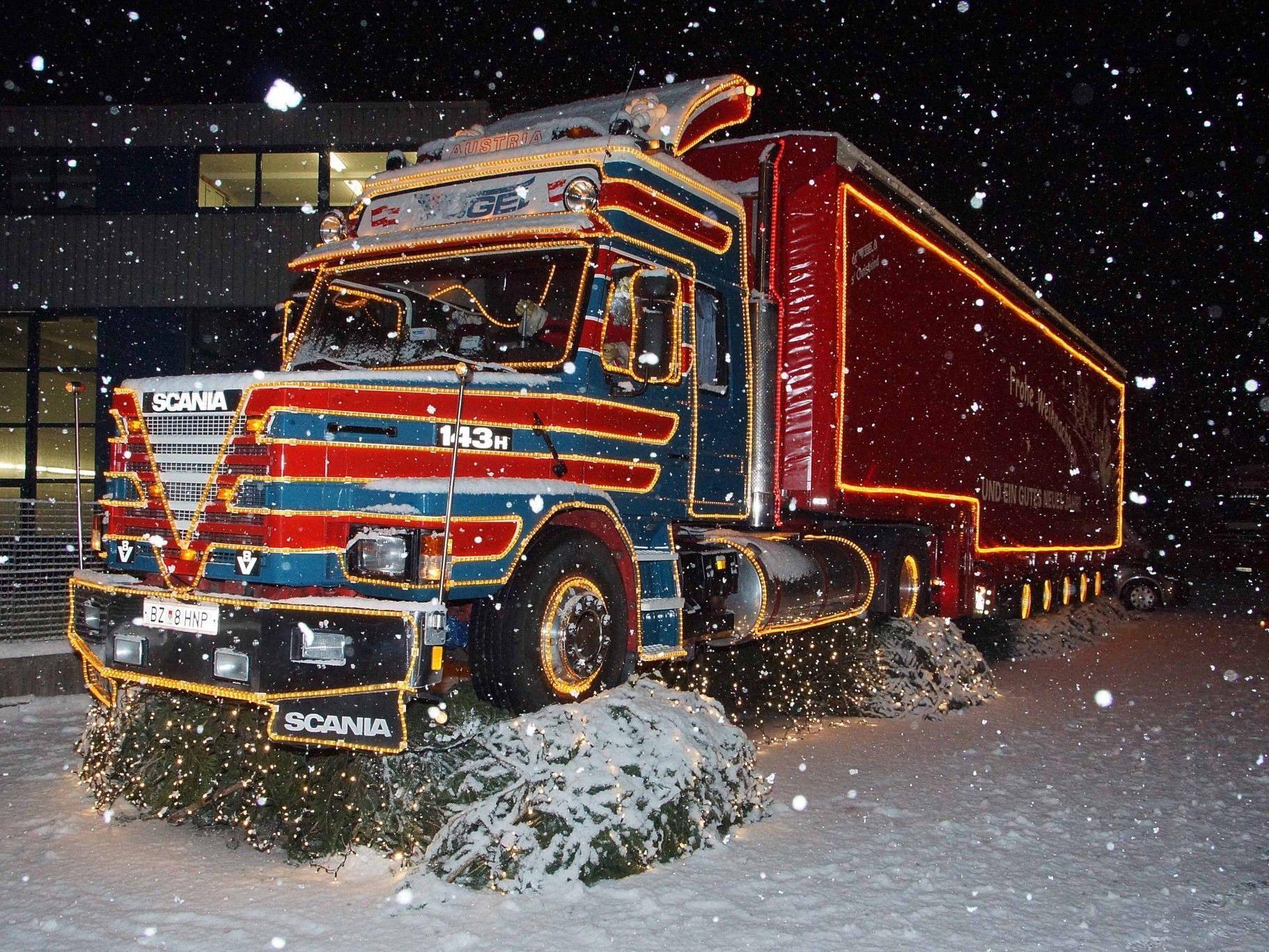 Der Oldi-Truck auf dem Vögel-Standort in Gais ist gleichzeitig Symbol für unfallfreie Fahrt.