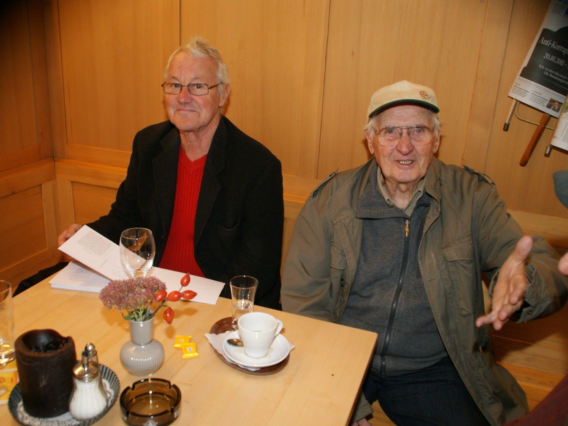 Zwei Egger Urgesteine: Sattlar´s Sepp und Erich Behmann