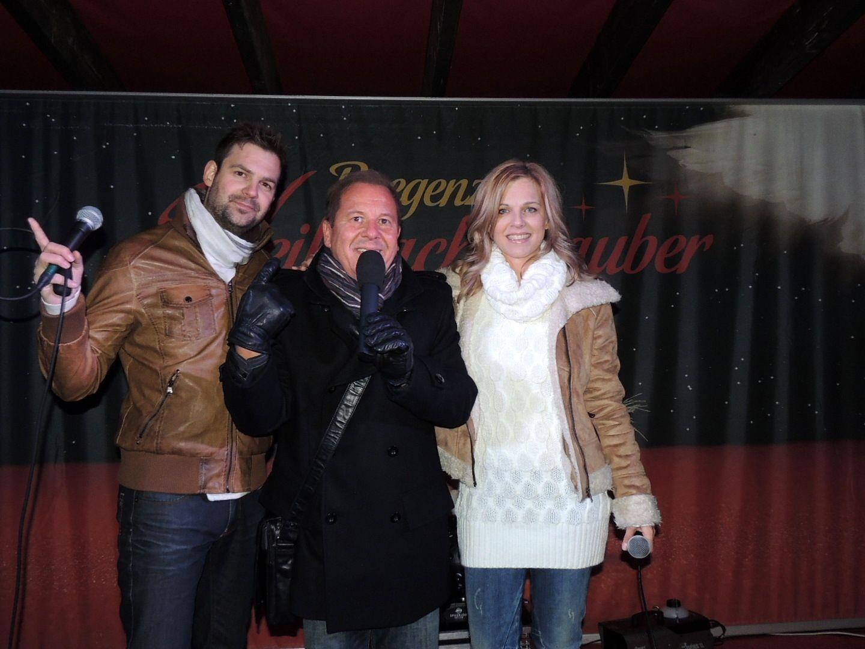 Entertainer und Moderator Roberto Kalin hieß Miriam und Peter in Bregenz herzlich willkommen