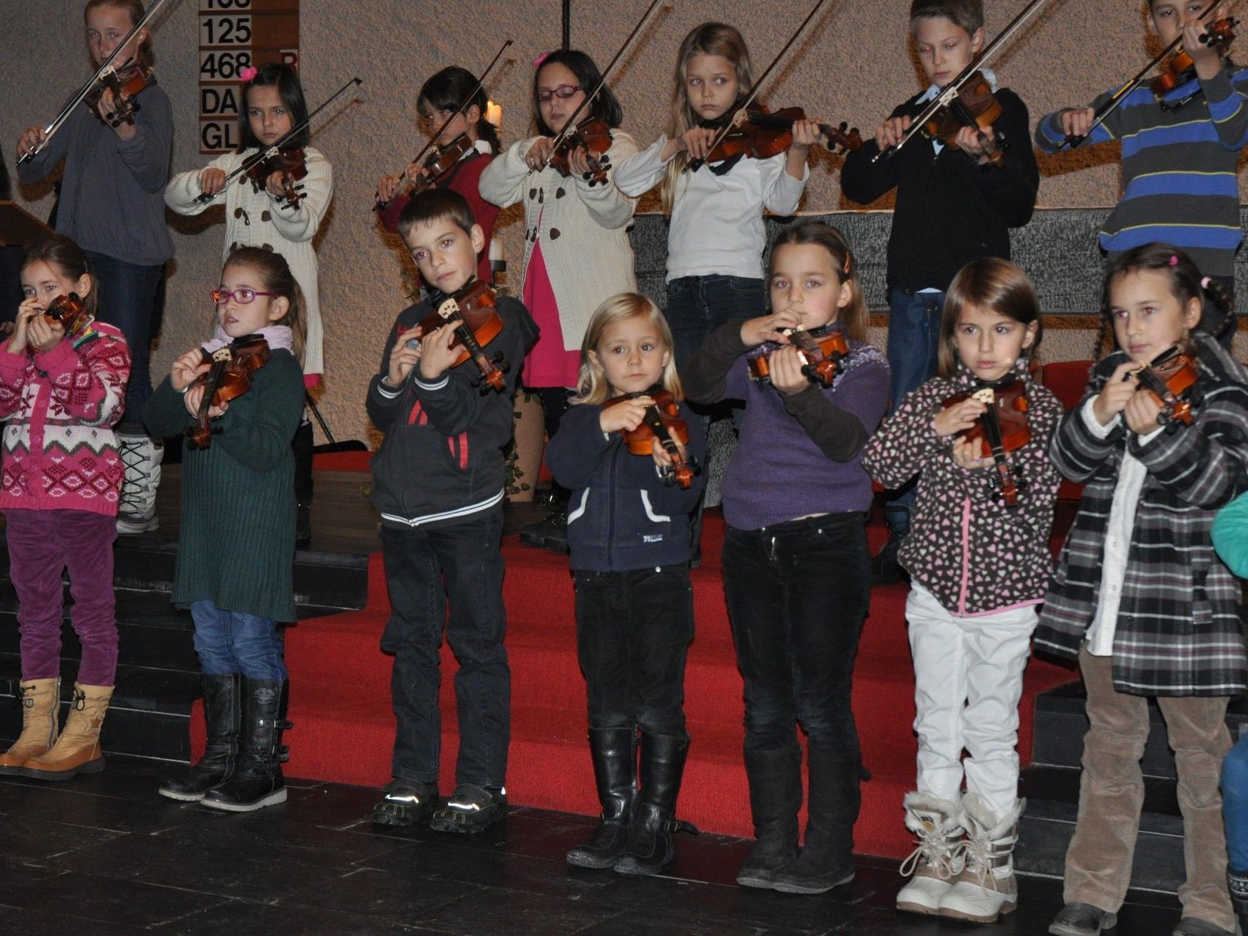 Die Musikschule Rankweil-Vorderland bot ein stimmungsvolles Adventkonzert.