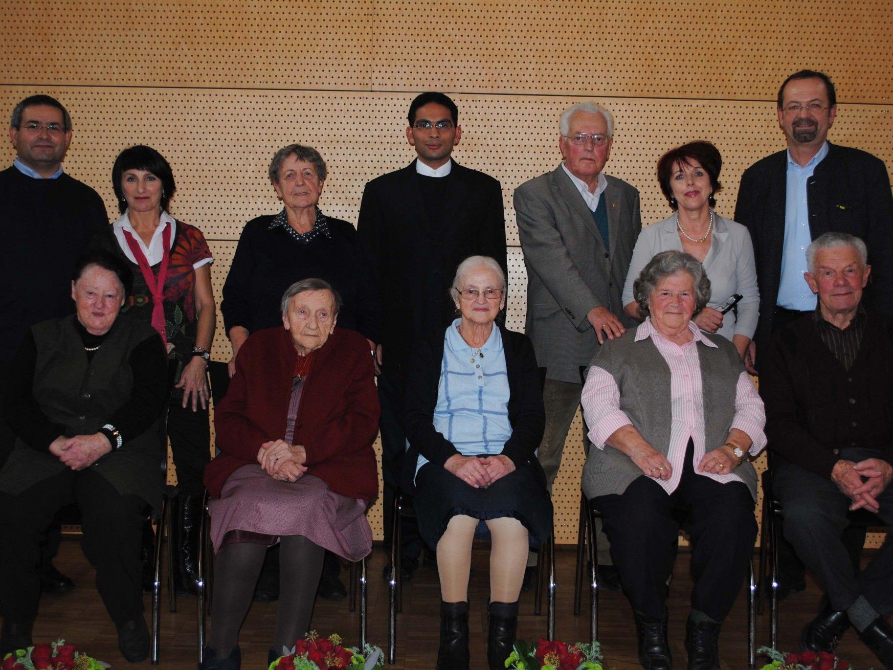 Ehrung der Über-80-Jährigen in Mäder.