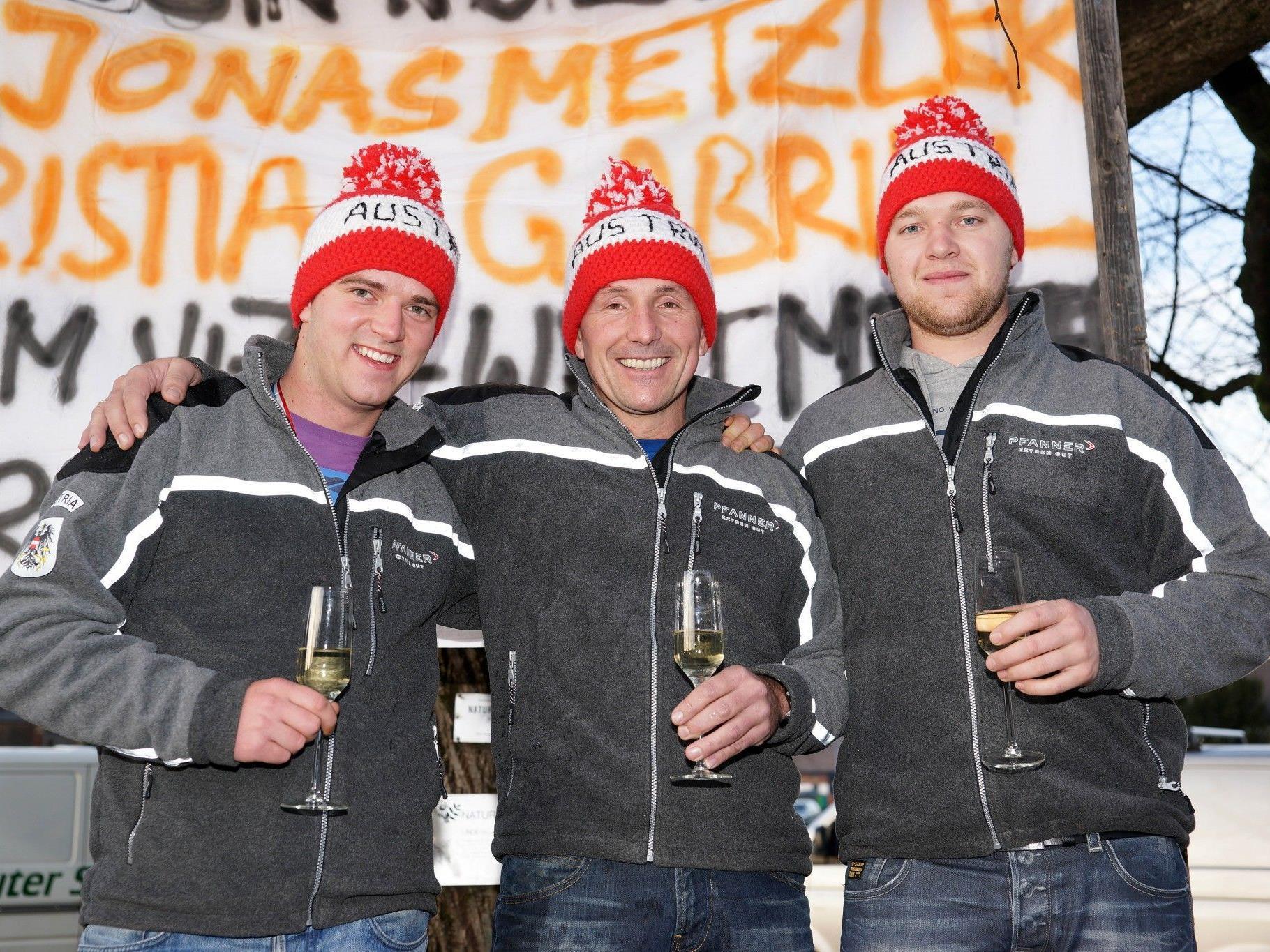 Christian Gabriel, Martin Meusburger und Jonas Metzler,