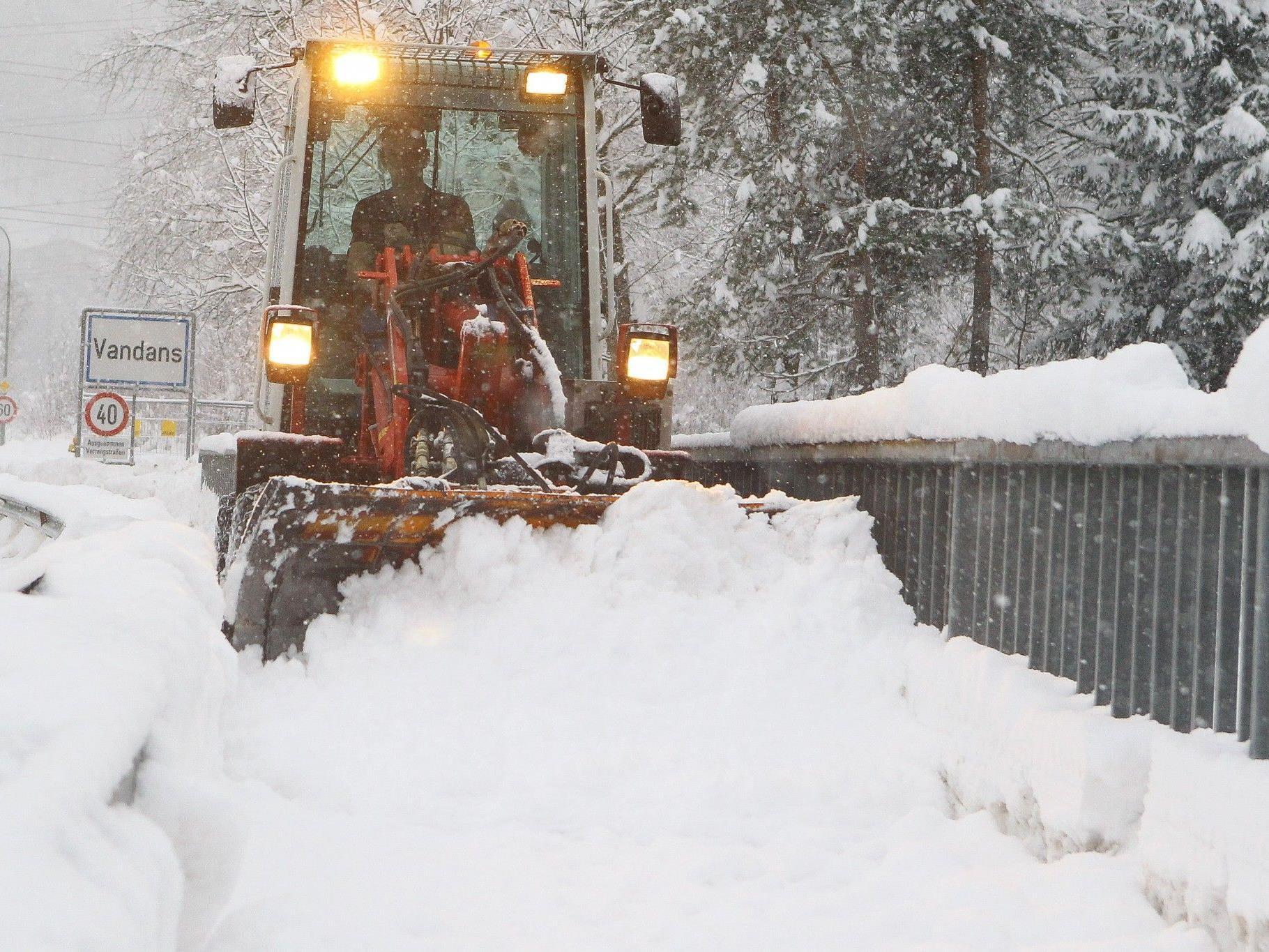 Schneeräumung in Vandans