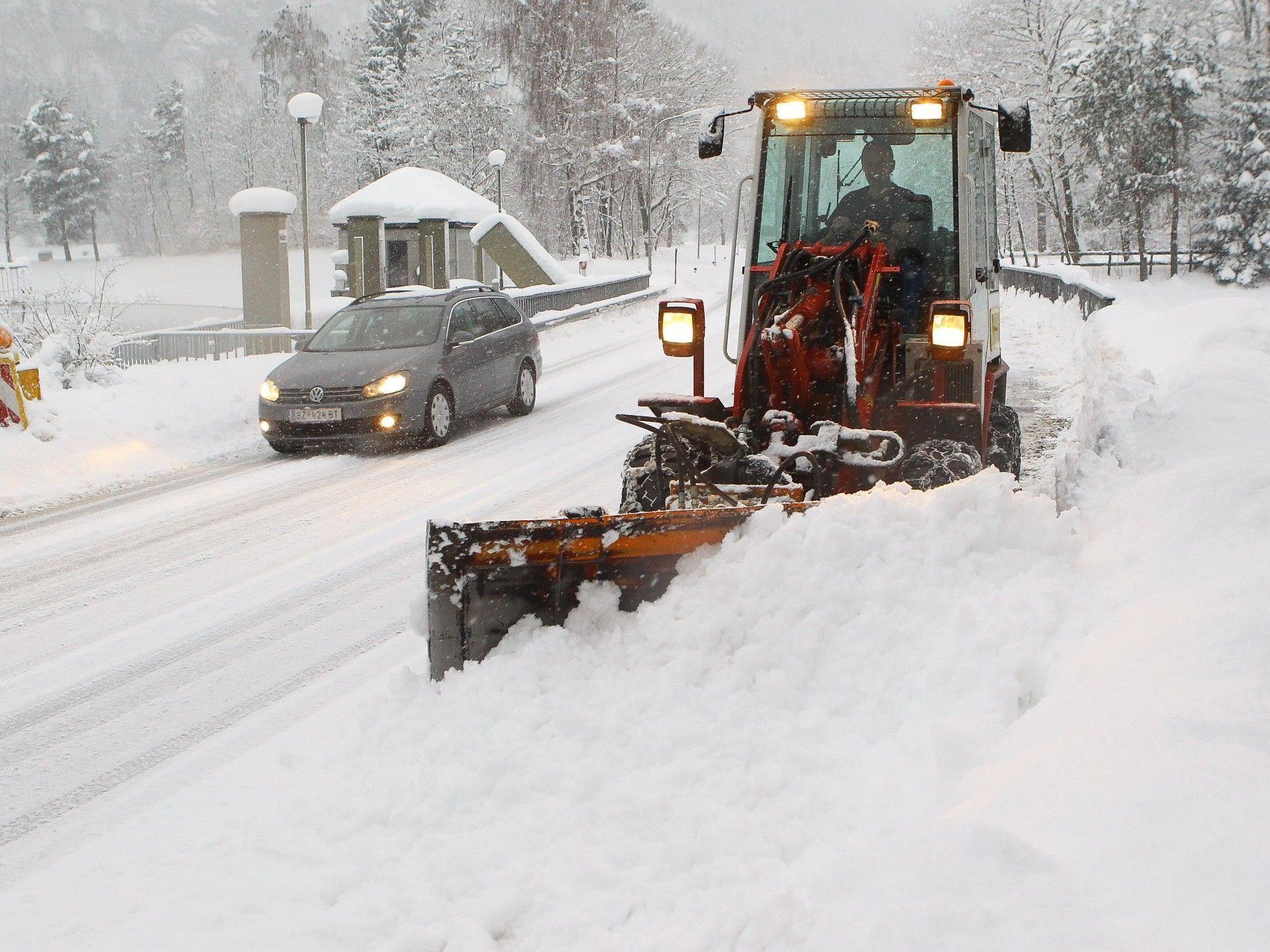 Ergiebige Neuschneemengen auch im Tal.