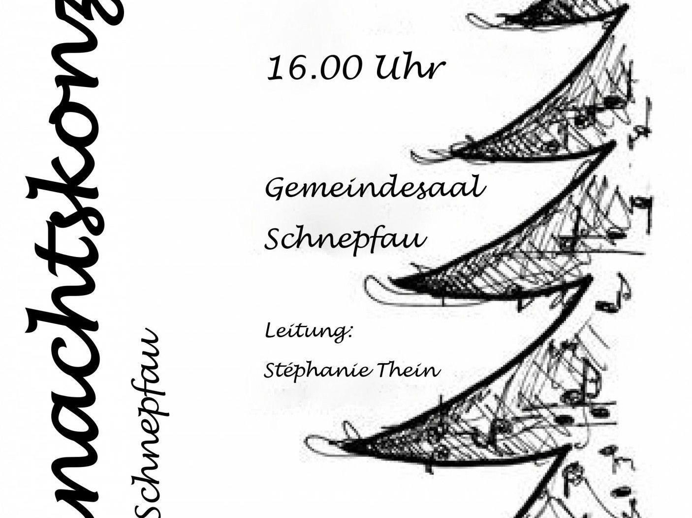 Weihnachtskonzert der Jungsmusik von Schnepfau