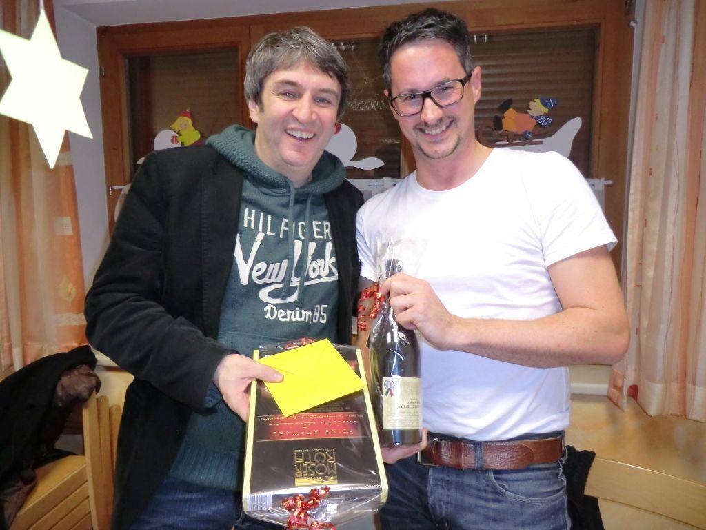 Bgm. Michael Tinkhauser und Obmann Hannes Pfefferkorn freuen sich über die gelungene Fusion