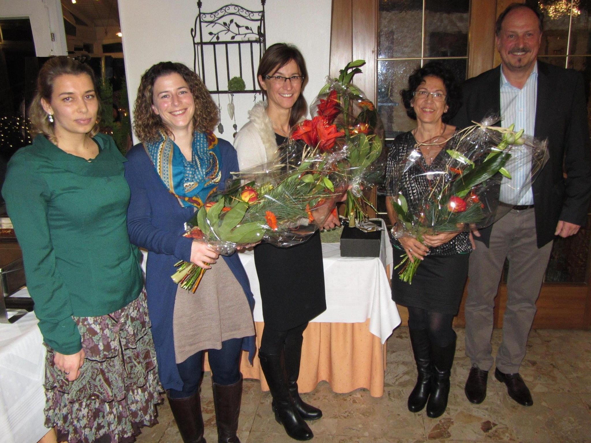 Dr. Beate Malz, Verena Hehle, Karin Greiter, Karin Grote, Bgm Karl Hehle