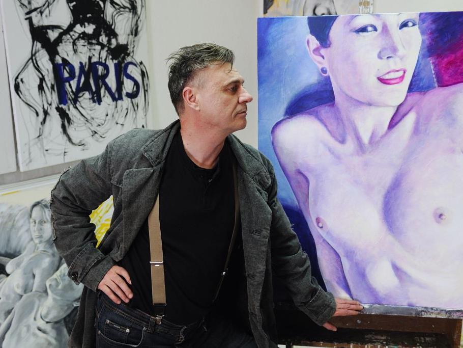 Der Harder Künstler Gerd Menia vermittelt mehr als nur Maltechniken.