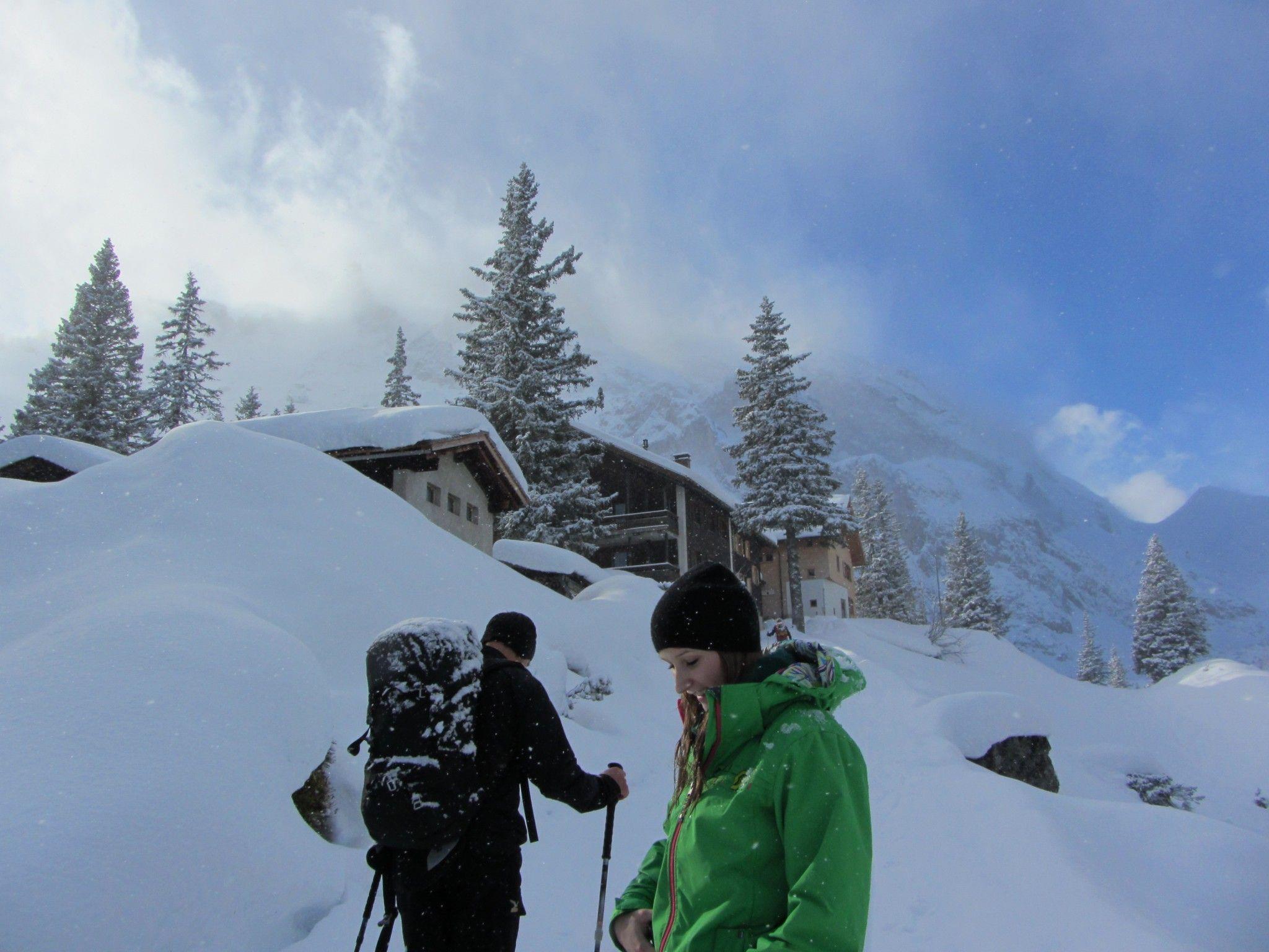 Schneereiches Ausflugsziel: Lindauer Hütte.
