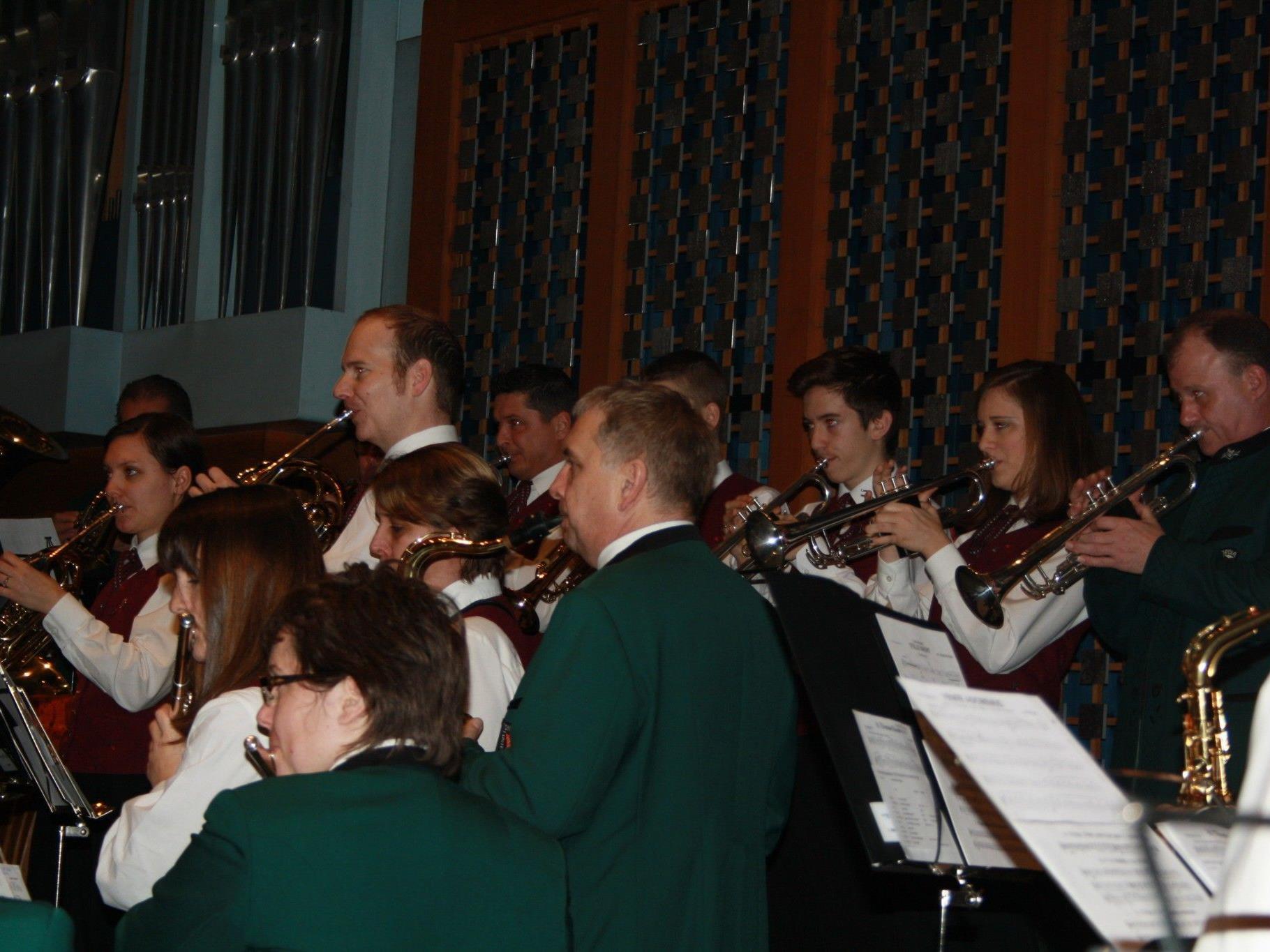 Festlich umrahmt wurde der Weihnachtsgottesdienst vom Musikverein Concordia Lustenau.