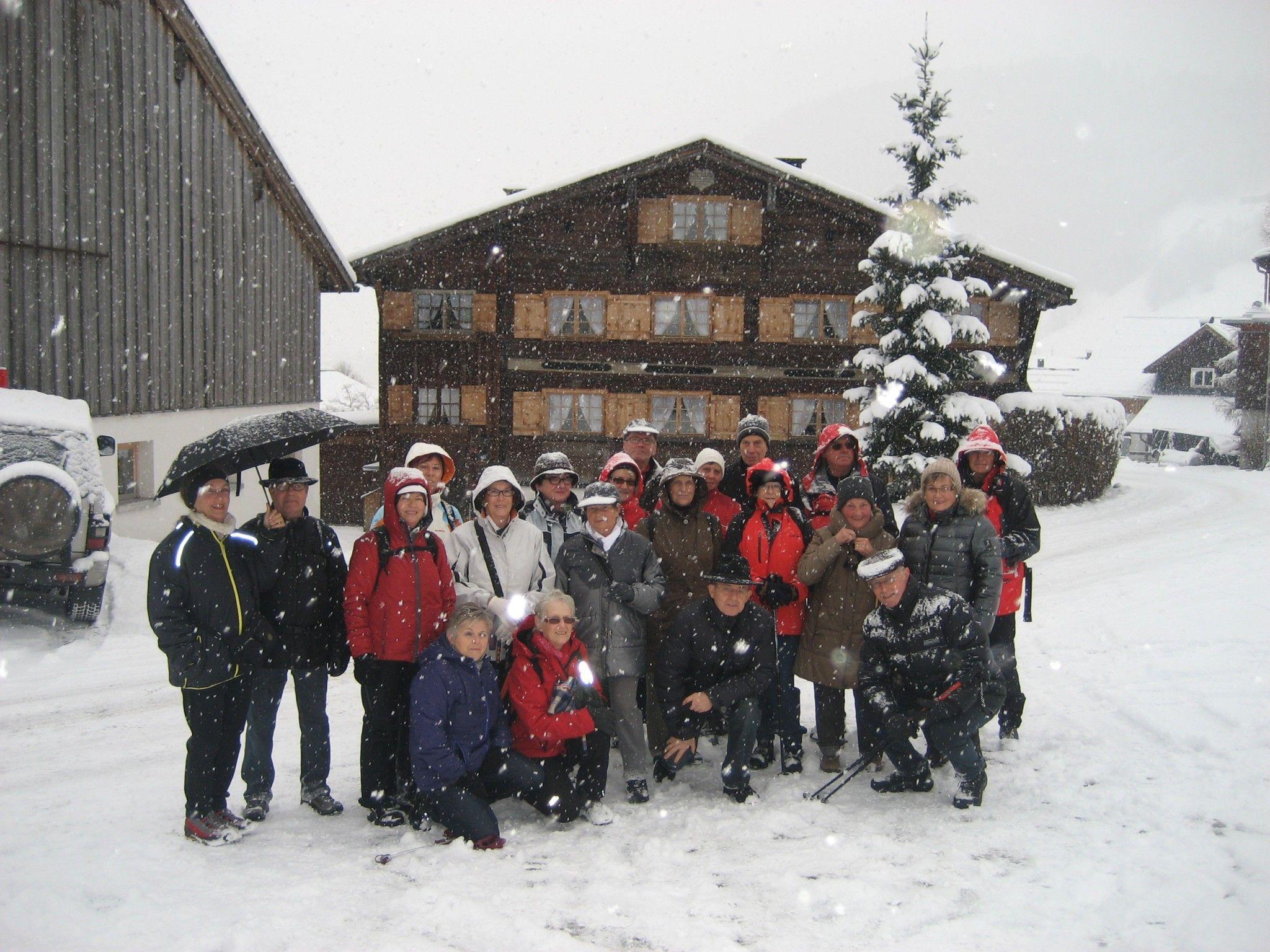 Die Lustenauer Senioren im verschneiten Rehmen