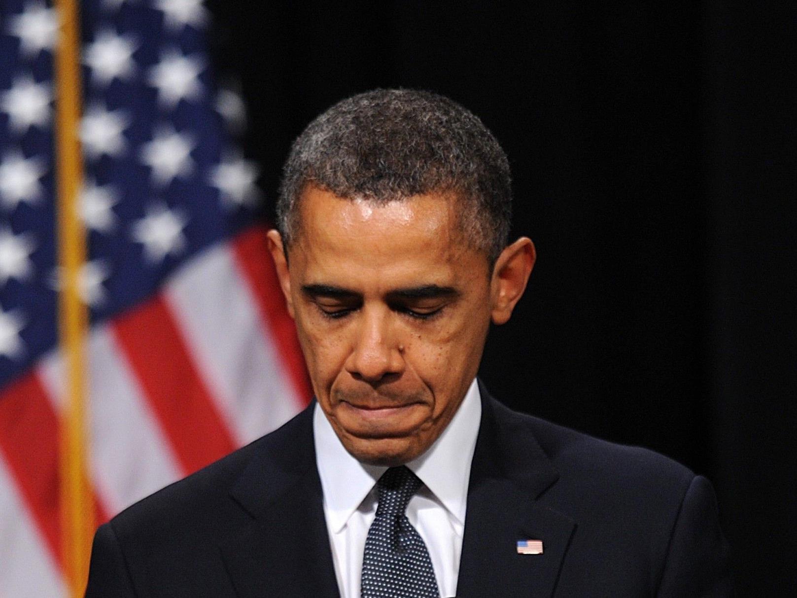 Präsident Obama sprach nach Massaker an US-Schule vor trauernden Angehörigen und Gemeindemitgliedern.
