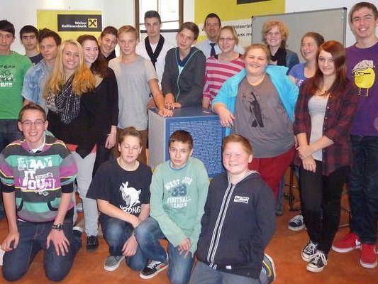 Die Schüler der PTS Kleinwalsertal nach dem Bewerbunsgseminar.