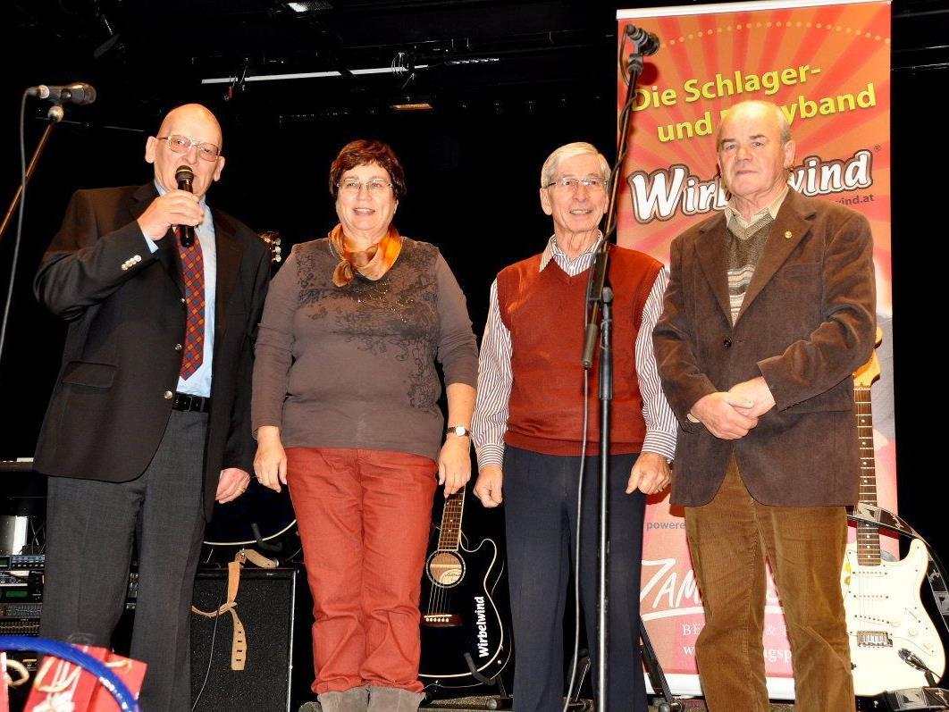 Die vier Obmänner Franz Strasser (Götzis), Brigitte Scholz (Mäder), Ludwig Schellhorn (Koblach) und Richard Gozzi (Altach) (v.l.).
