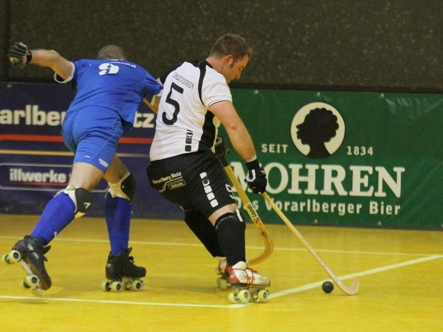 Michael Schwendinger hatte mit vier Toren sein Visier bestens eingestellt, RHC Dornbirn schafft Quali.
