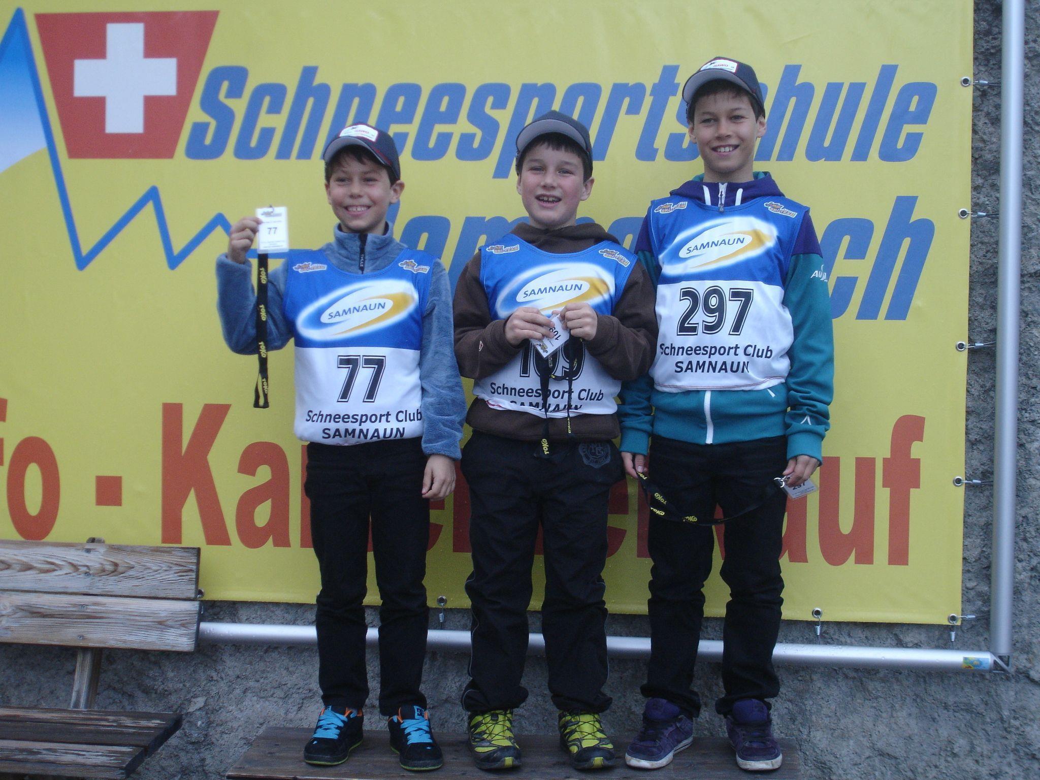 Spitzenplätze für die drei Bregenzerwälder Nachwuchsläufer in der Lenzerheide.