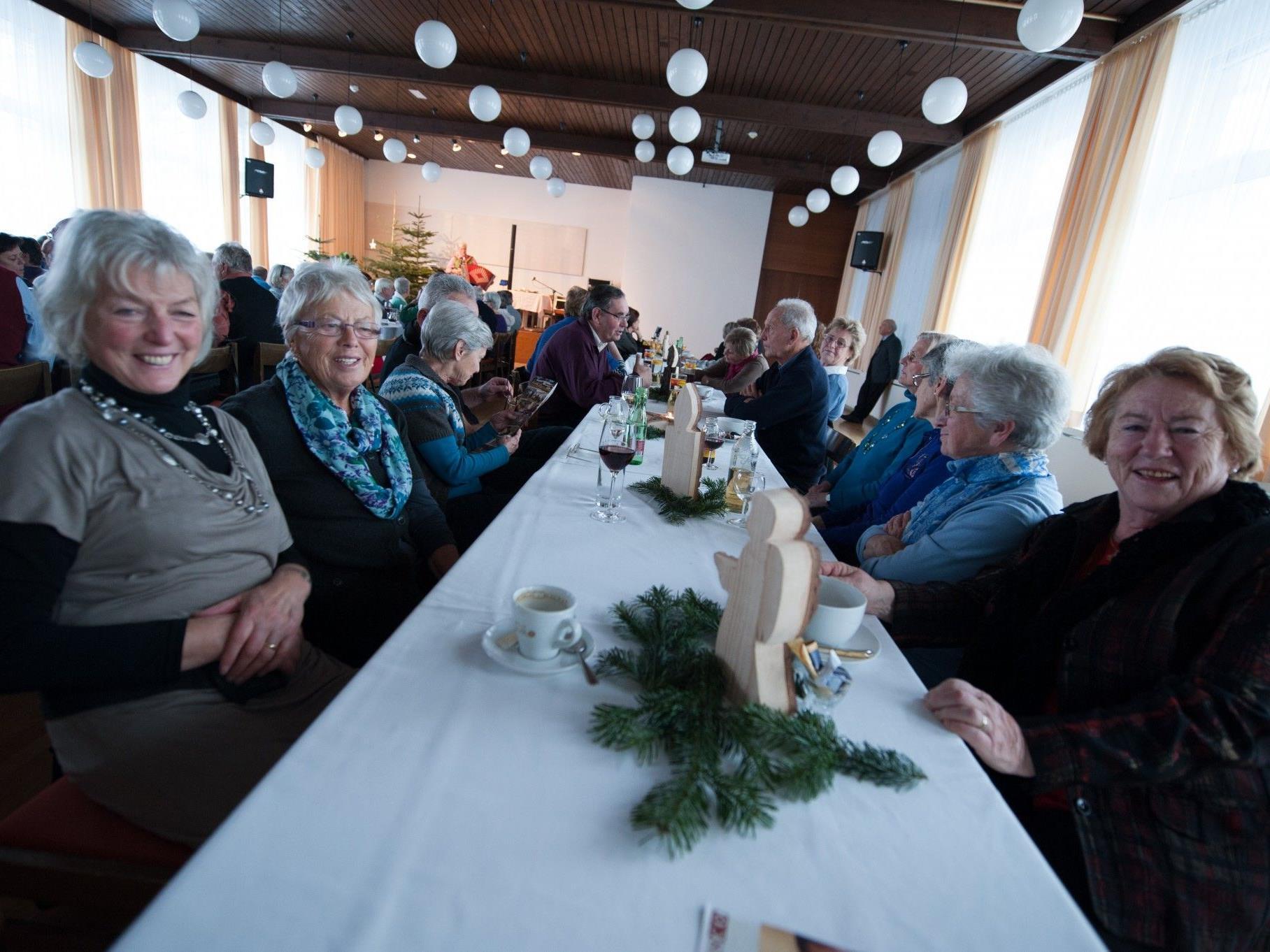 Beste Stimmung bei der Adventfeier des Dornbirner Seniorenbundes 50 plus