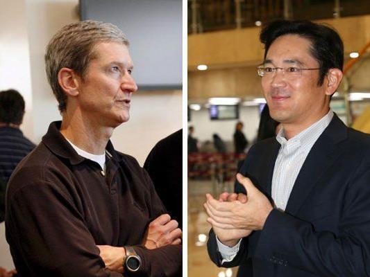 Tim Cook (Apple) und Lee Jae-Yong (Samsung) sollten Frieden schließen, meint die Richterin.