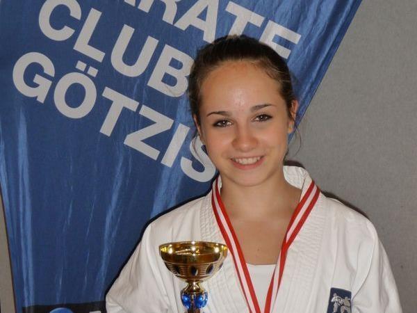 Rebecca Rieder vom KC Götzis legte zum Saisonabschluss erneut eine Talentprobe ab-.