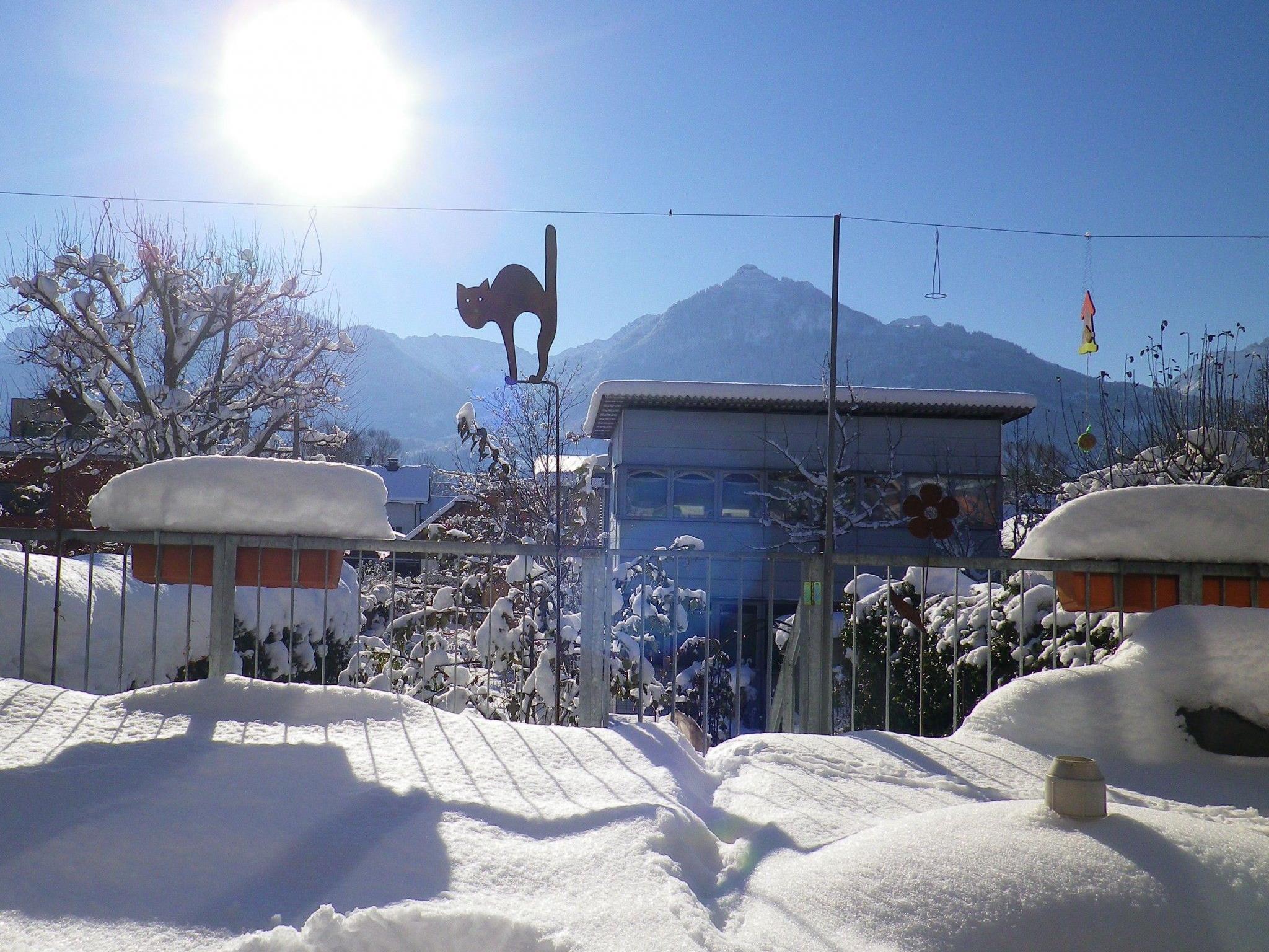 Tief winterliche Verhältnisse in Satteins