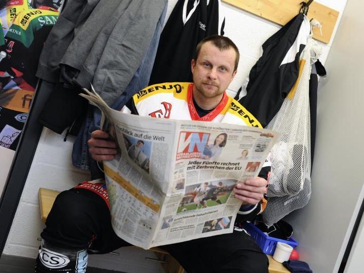 VEU-Teammanager Michael Lampert ist natürlich auch auf dem Eis zu sehen.