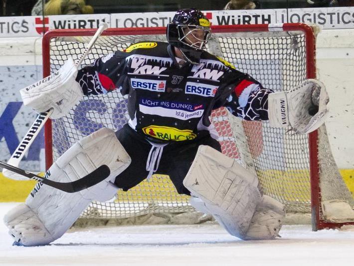 Auf EC Dornbirn-Goalie Des Rochers wartet in den kommenden Tagen viel Arbeit.