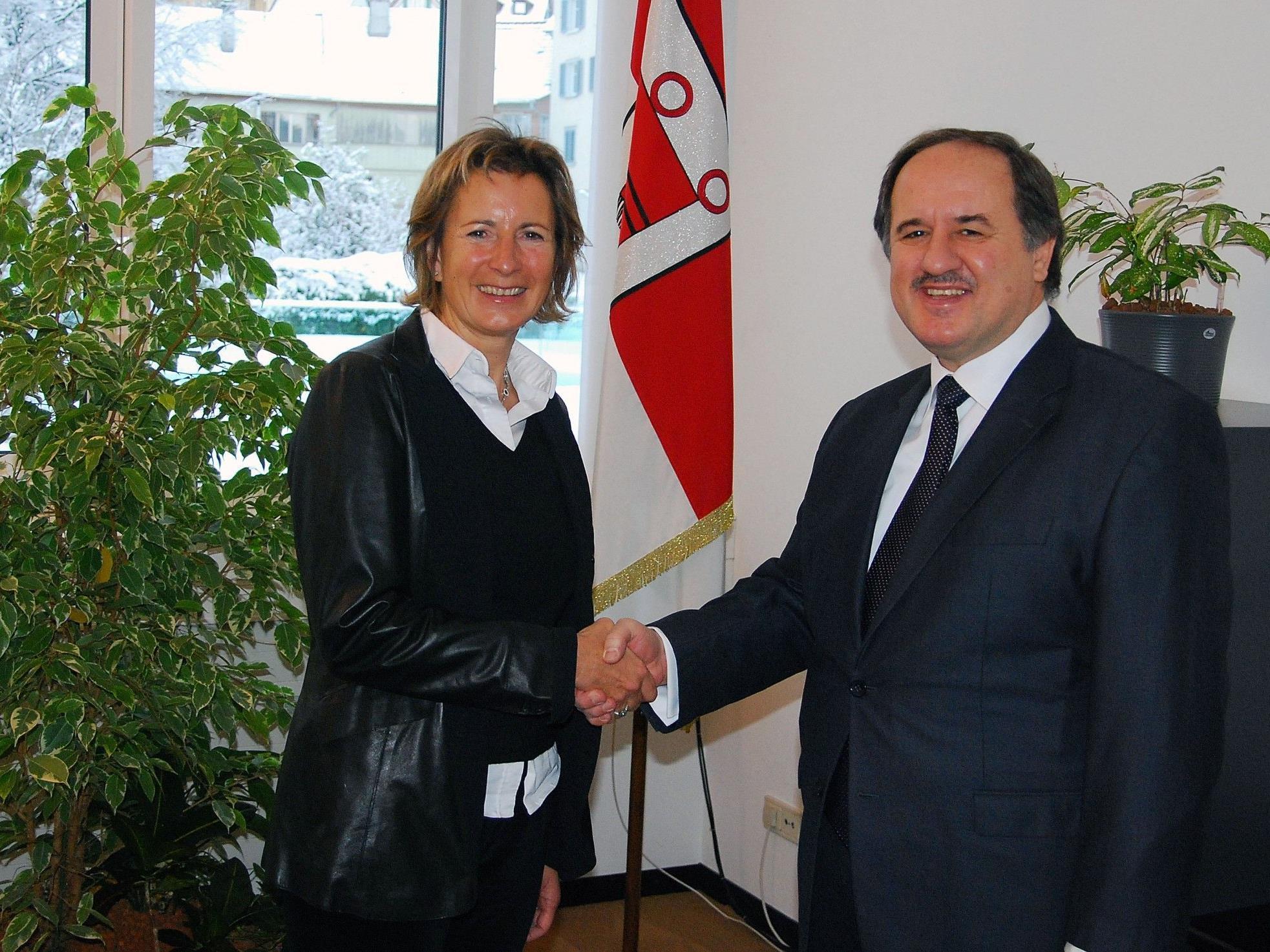 Antrittsbesuch des türkischen Generalkonsuls bei Gabriele Nußbaumer.