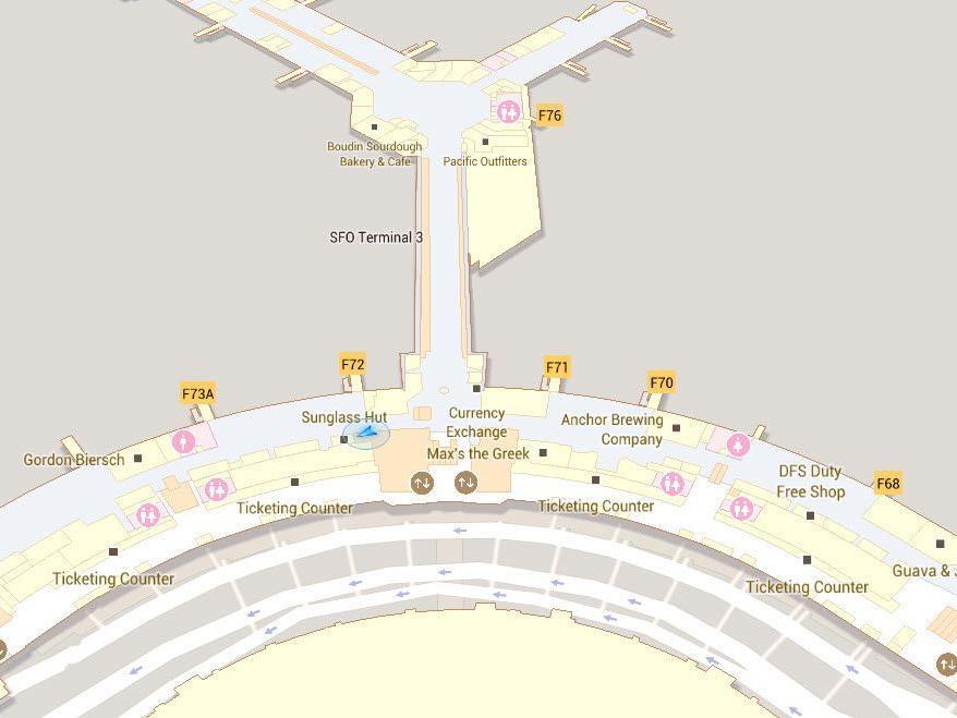 Nie wieder am Flughafen verlaufen dank Google Indoor Maps.