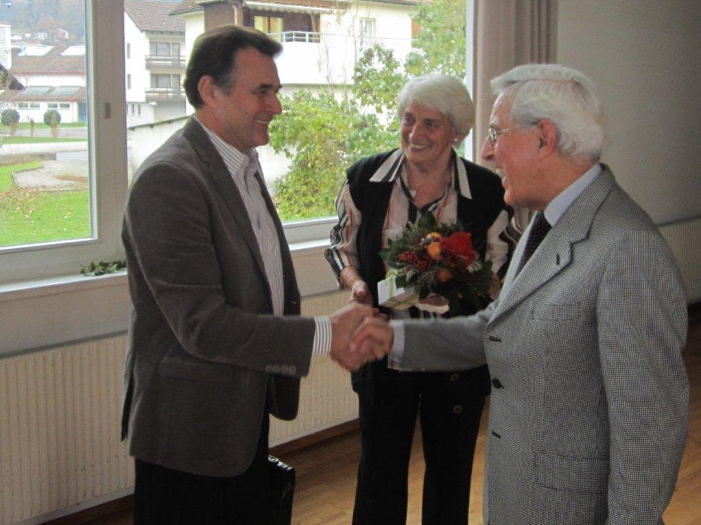 Wilfried Übelher, Resi Bereuter und Dr. Gottfried Feurstein