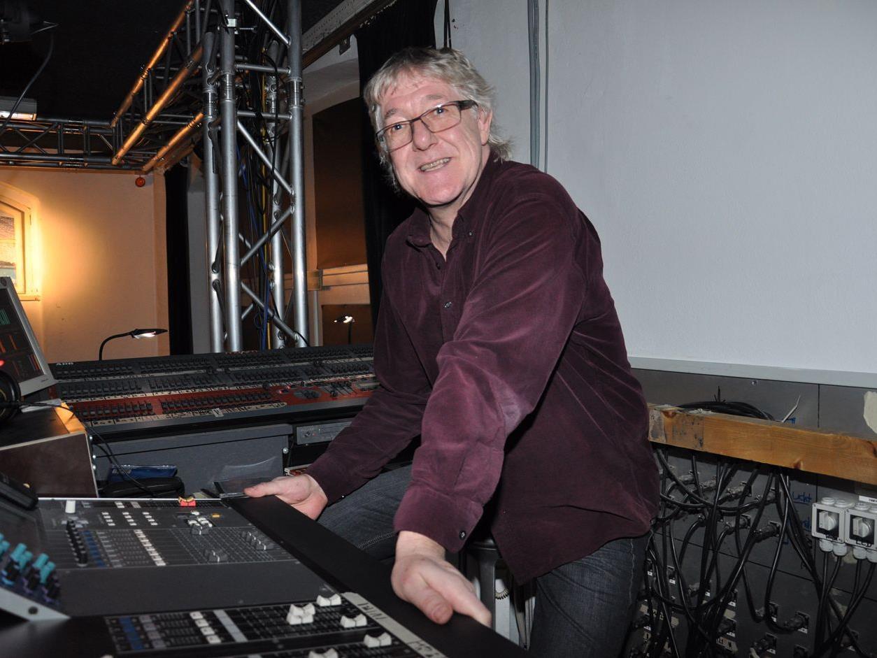 Manfred Rendl sorgt für den guten Ton in der Kulturwerkstatt Kammgarn.