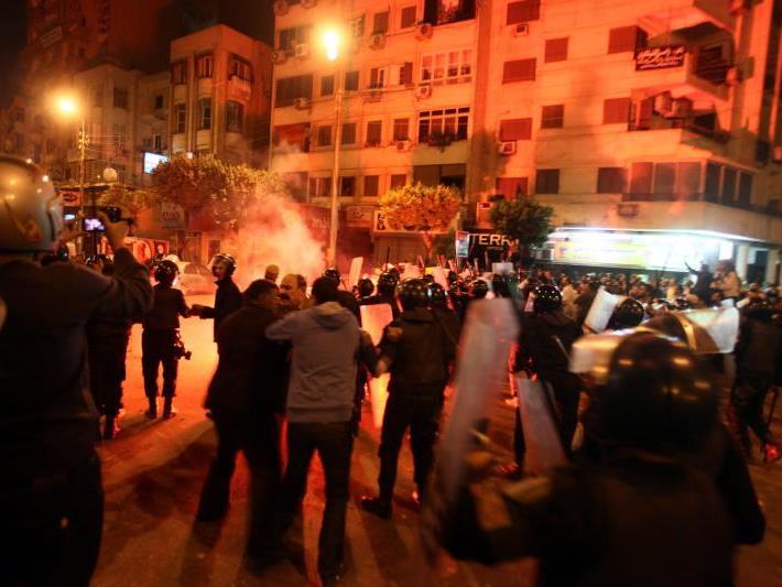 Eine Nacht der Gewalt in Kairo