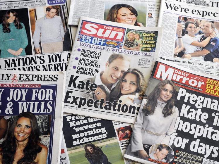 Die Sorge um Kate dominiert die Schlagzeilen der britischen Presse.